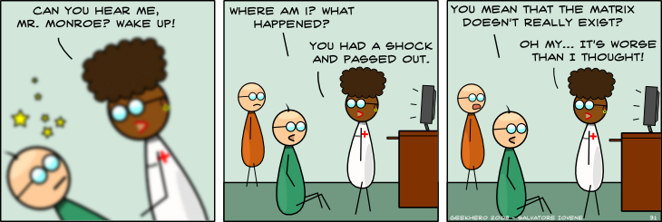 Geek Hero Comic – A webcomic for geeks: Shock