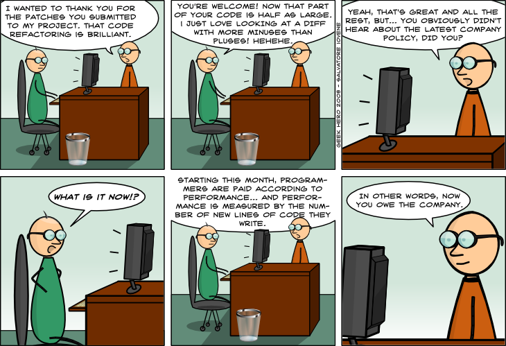 Geek Hero Comic – A webcomic for geeks: Programmers Salary Policy
