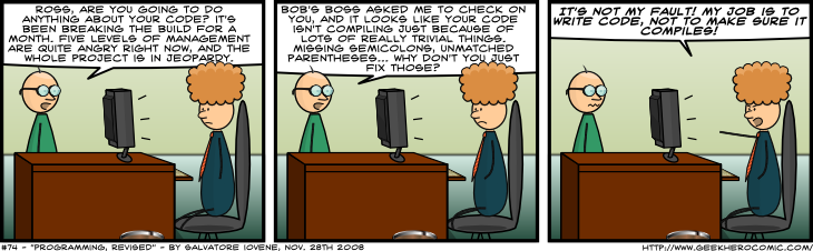 Geek Hero Comic – A webcomic for geeks: Programming, Revised