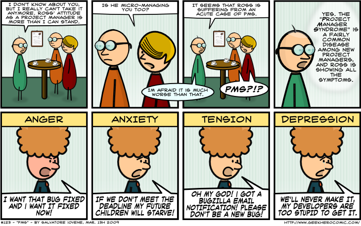 Geek Hero Comic – A webcomic for geeks: PMS