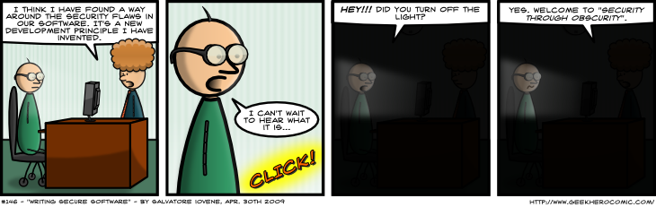 Geek Hero Comic – A webcomic for geeks: Writing Secure Software
