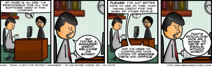 Geek Hero Comic – A webcomic for geeks: Email Client For Project Managers