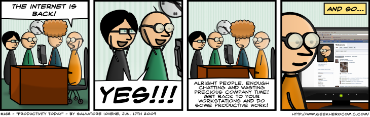 Geek Hero Comic – A webcomic for geeks: Productivity Today