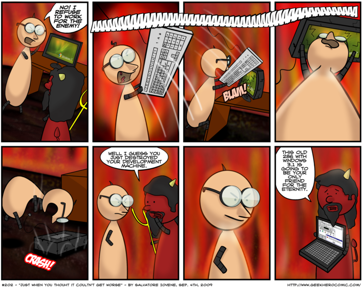 Geek Hero Comic – A webcomic for geeks: Just When You Thought It Couldn't Get Worse