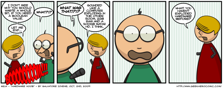 Geek Hero Comic – A webcomic for geeks: Hardware Noob