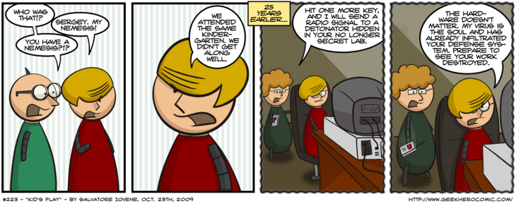 Geek Hero Comic – A webcomic for geeks: Kid's Play