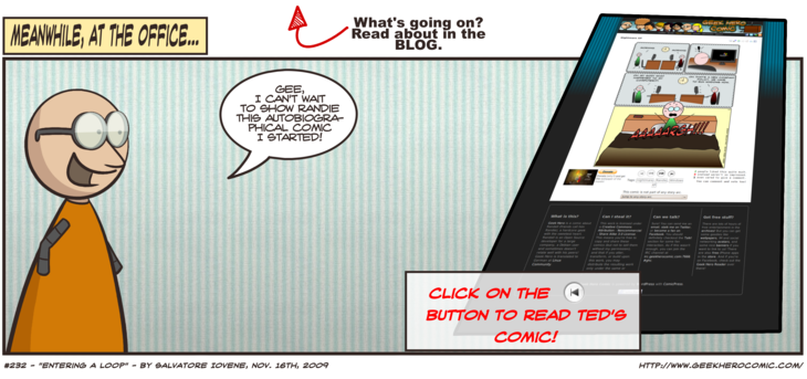 Geek Hero Comic – A webcomic for geeks: Entering The Loop