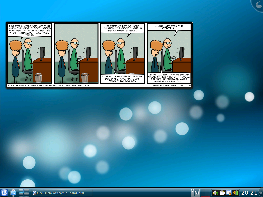 KDE4 Comics Plasmoid for GHC